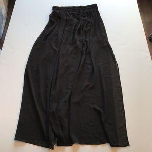MNG Black Sheer Stretch Waist Chiffon Maxi Skirt M